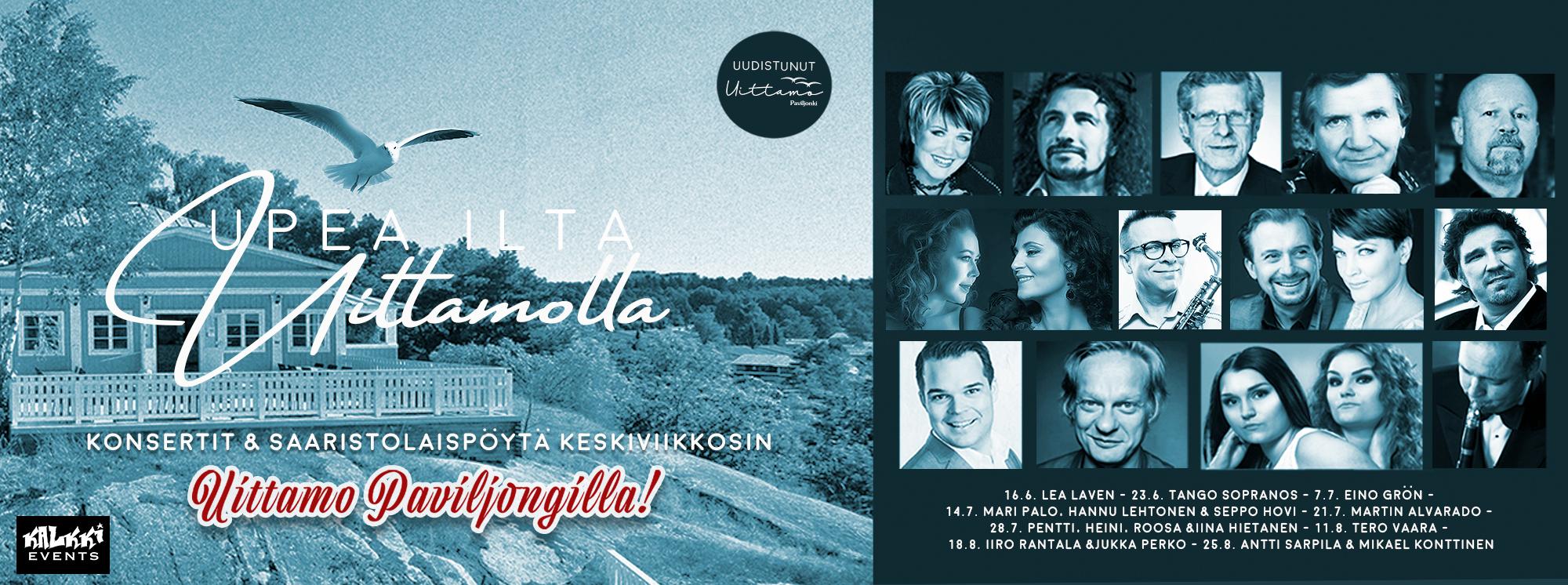 Upea ilta Uittamolla: Koko Kesän konsertit